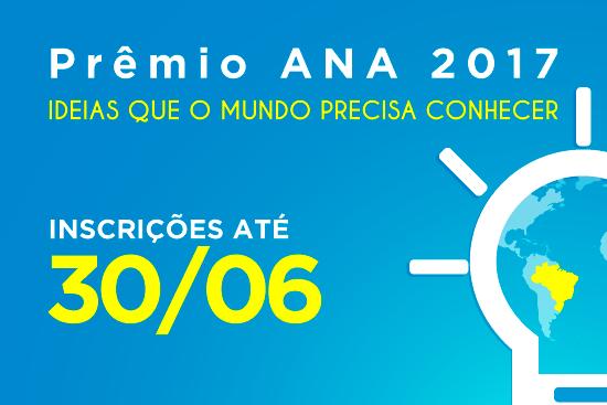 Prêmio ANA recebe inscrições até 30 de junho